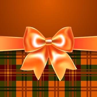 Fond avec noeud orange ruban