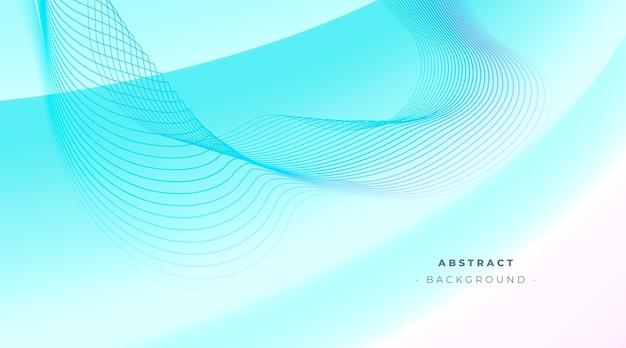 Fond noir abstrait bleu avec des lignes ondulées