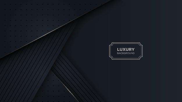 Fond noir abstrait de luxe