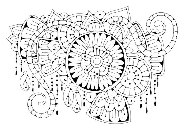 Fond noir et blanc à colorier.