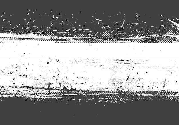 Fond noir et blanc en détresse grunge