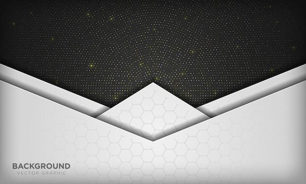 Fond noir et blanc sur l'élément de points de paillettes scintillantes