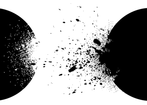 Fond noir et blanc d'explosion