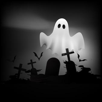 Fond noir et blanc de halloween