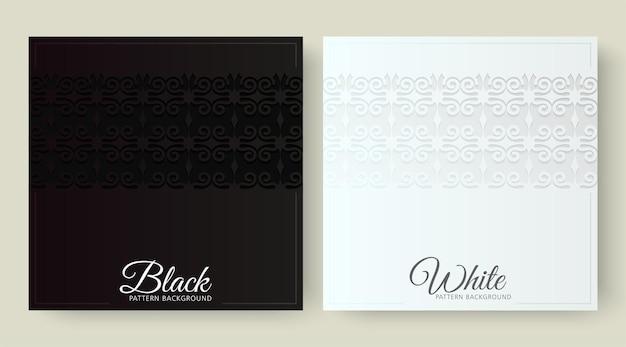 Fond noir et blanc de luxe avec motif de bordure