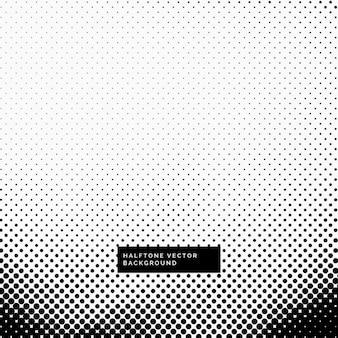 Fond noir et blanc avec des points de trame