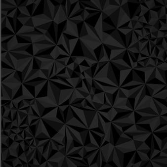 Fond noir et blanc triangle polygonale