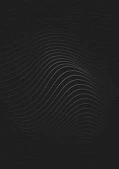 Fond noir bordé d'argent avec effet de vague