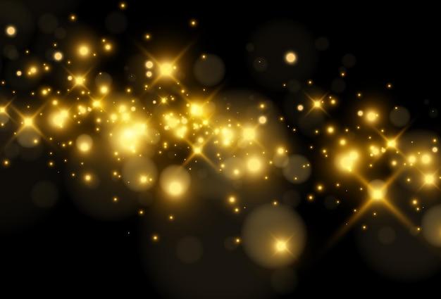 Fond noir brillant de belles étoiles