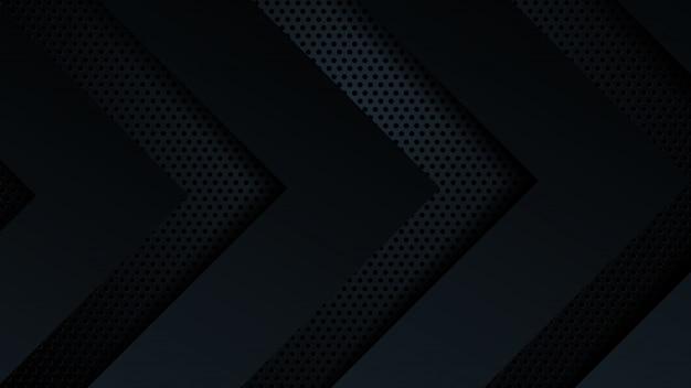 Fond noir chevauchent la dimension abstraite géométrique moderne.
