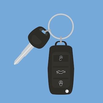 Fond noir des clés de voiture