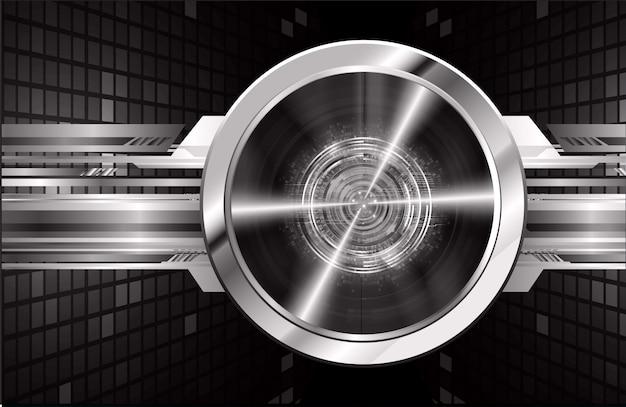 Fond noir concept de technologie d'avenir cyber circuit