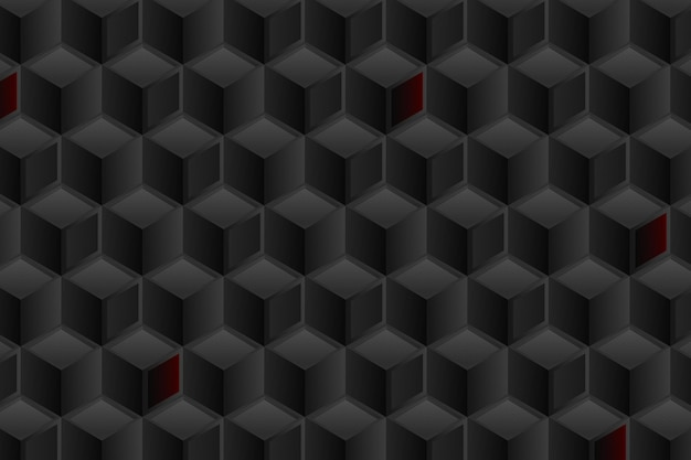 Fond noir dégradé avec des cubes