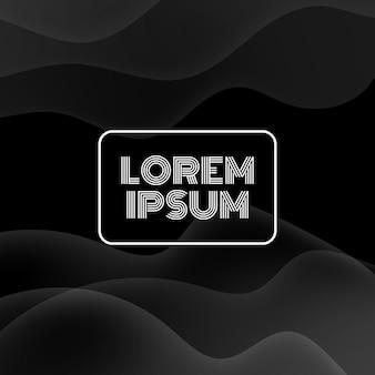 Fond noir avec un design de courbe de ligne. illustration vectorielle. eps10.