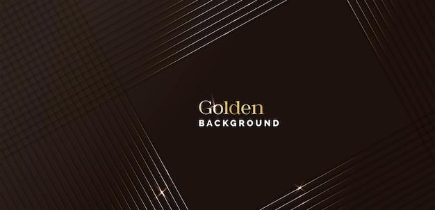 Fond noir et doré élégant