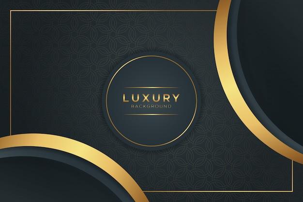 Fond noir et doré de luxe