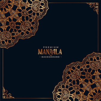 Fond noir ethnique mandala décoratif