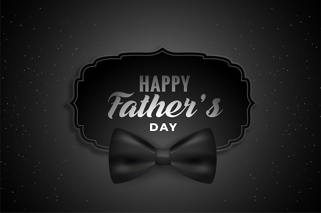 Fond noir fête des pères heureux avec un arc réaliste