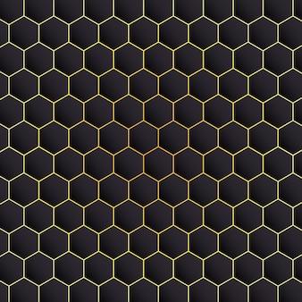 Fond noir hexagonal