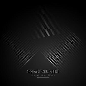 Fond noir avec des lignes diagonales abstraites