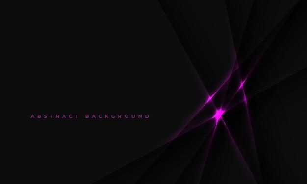 Fond noir avec des lignes lumineuses roses abstraites et des ombres