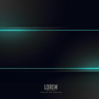 Fond noir avec la lumière au néon bleue