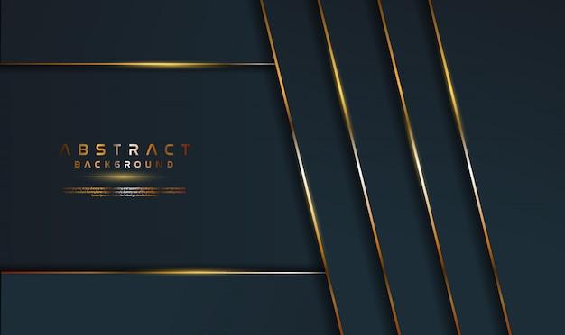 Fond noir de luxe avec décoration dorée