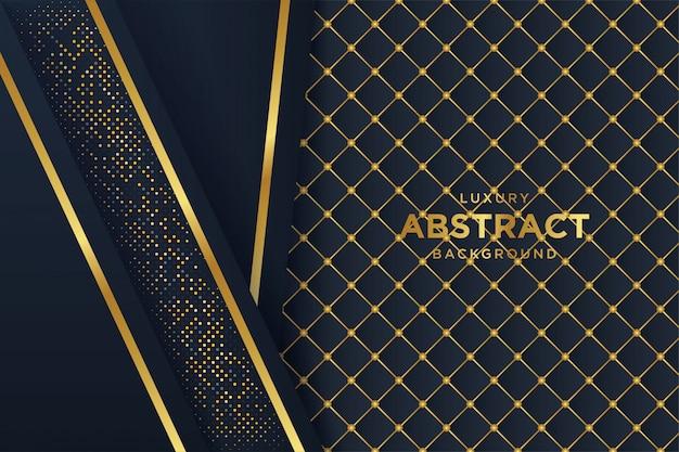 Fond noir de luxe avec style 3d
