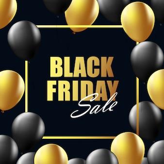 Fond noir mise en page de vente vendredi