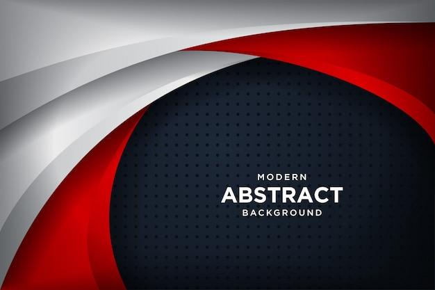 Fond noir moderne avec effet de superposition de couches en 3d
