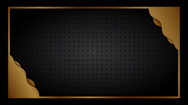 Fond noir et or abstrait formes géométriques papier peint design de luxe.