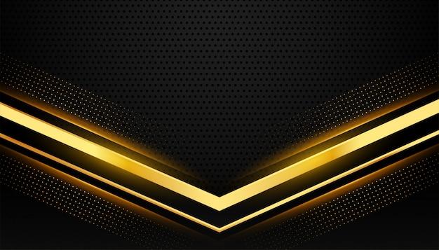 Fond noir et or élégant avec espace de texte
