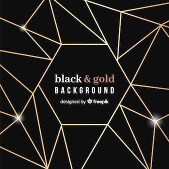 Fond noir et or
