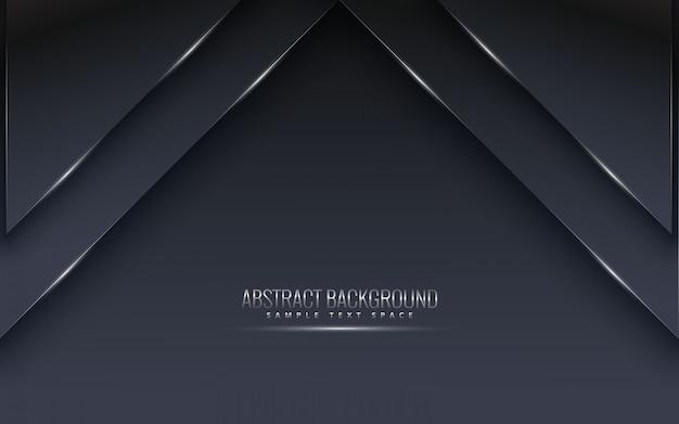 Fond noir premium avec luxe sombre. vecteur de lignes de luxe argent platine.