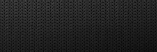 Fond noir rayé métallique surface d'ornement minimaliste avec noir rond