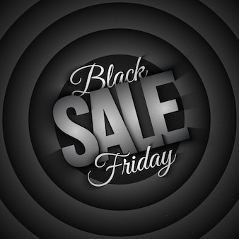 Fond noir rétro vente vendredi