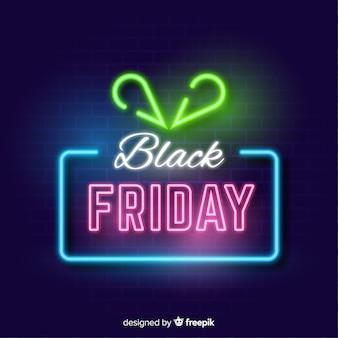 Fond noir signe de vente vendredi