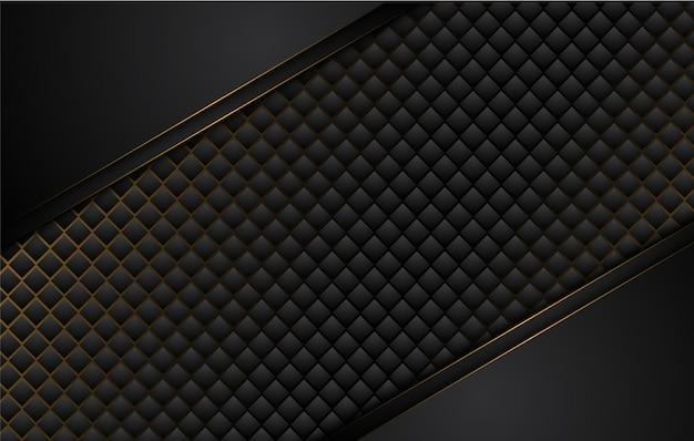 Fond noir tech avec des formes abstraites