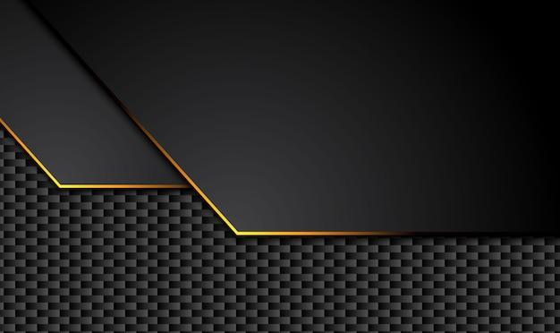 Fond noir technique avec rayures jaunes contrastantes.