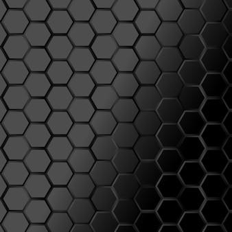 Fond noir de texture hexagonale