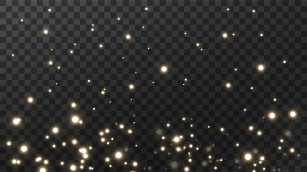 Fond noir texturé de poussière magique étincelante.