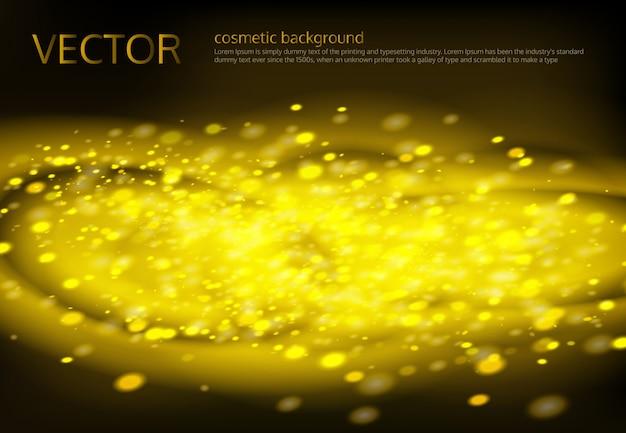 Fond noir vecteur avec des étincelles dorées