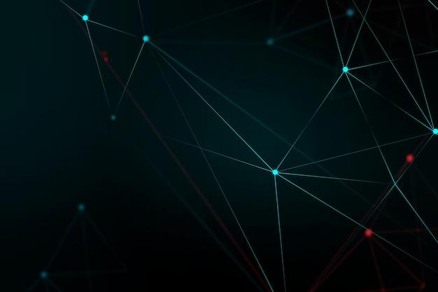 Fond noir de vecteur de grille numérique abstraite