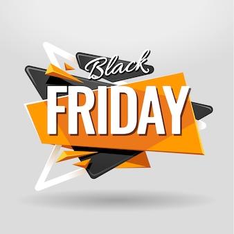 Fond noir vendredi abstrait