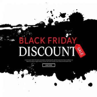 Fond noir vendredi, shopping modèle