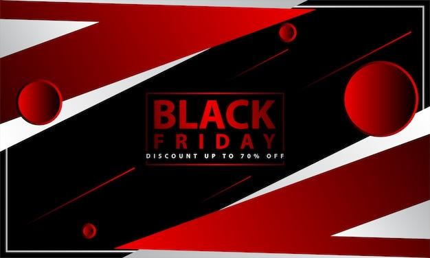 Fond noir vendredi avec style géométrique