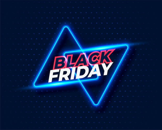 Fond noir vendredi style néon