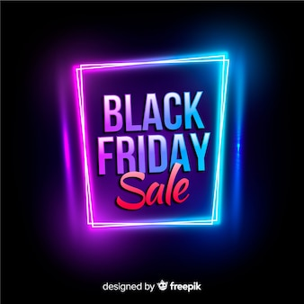 Fond noir de vente vendredi vendredi