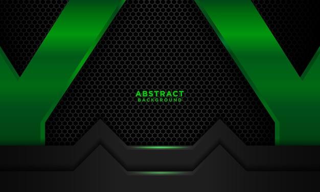 Fond noir vert réaliste avec la lumière bleue