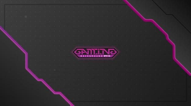 Fond noir et violet de jeu abstrait